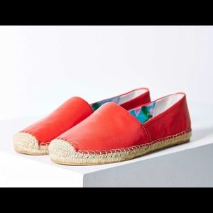 Sam Edelman Espadrille Red Size 7.5 NWT